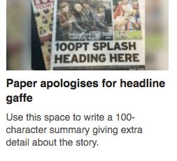 headline gaffe