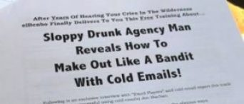 drunk cold email