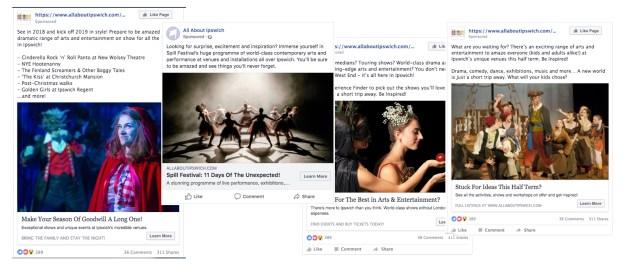 Ipswich Facebook ads examples