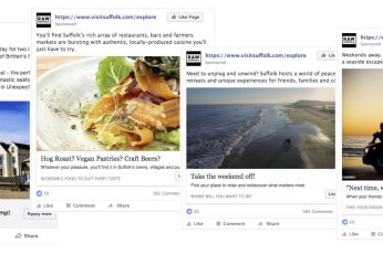 Suffolk facebook ads examples