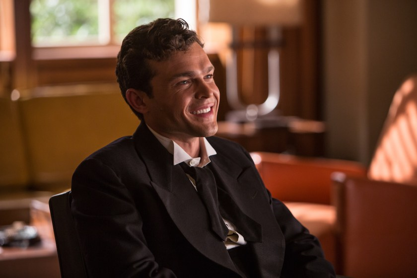 "ALDEN EHRENREICH is rising star Hobie Doyle in ""Hail, Caesar!,"" an all-star comedy from four-time Oscar®-winning filmmakers Joel and Ethan Coen.  Set during the latter years of Hollywood's Golden Age, the film follows a single day in the life of a studio fixer who is presented with plenty of problems to fix."
