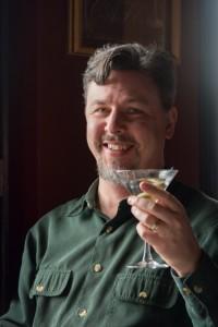 Jeffrey Overstreet - MFA martini toast - by Bob Denst