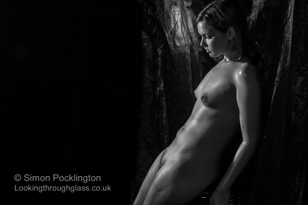 Black and white art nude