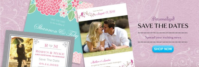 Modern Wedding Invitations Banner