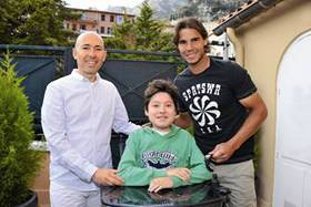 Photo: Rafael Nadal meets Paul, Luc Pettavino's son, a 15-year-old boy who is struggling against Duchenne muscular dystrophy