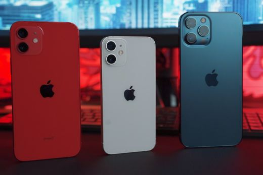 silver iphone 6 and red iphone case