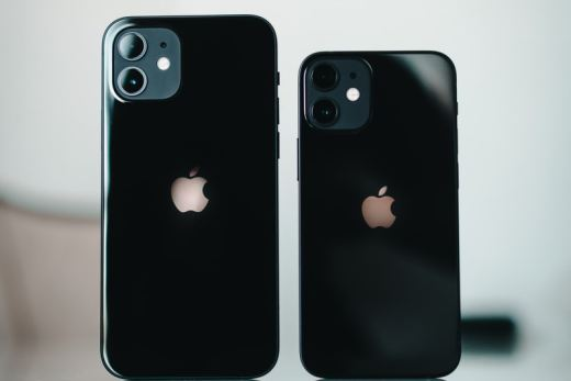 black iphone 7 plus with white and black case