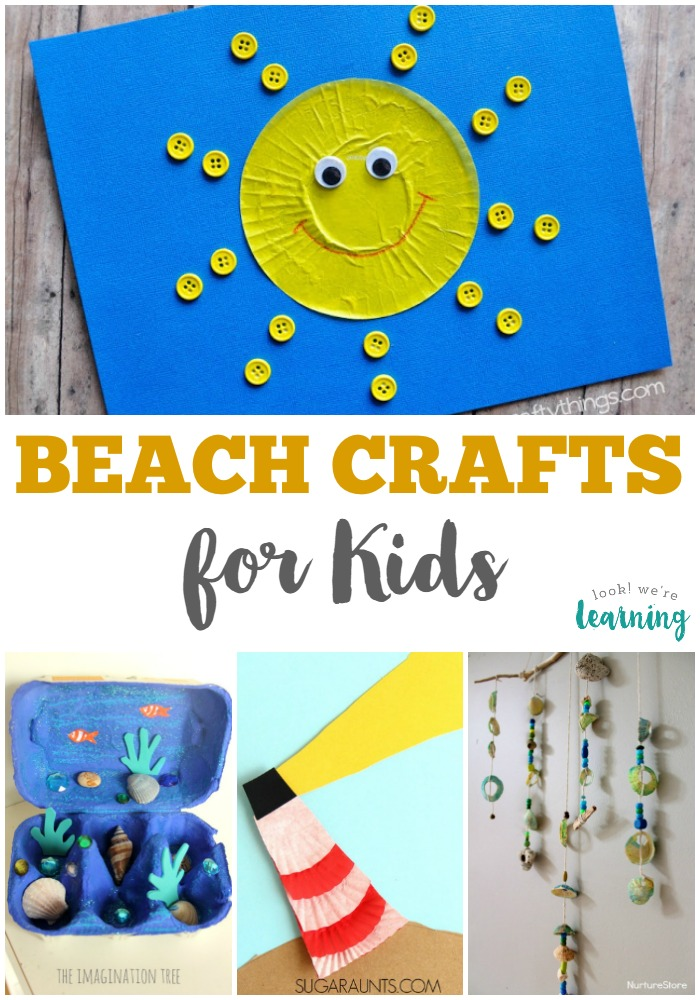 Sand crafts for kids are fun art projects parents and kids can enjoy doing together. 25 Beach Crafts For Kids Look We Re Learning