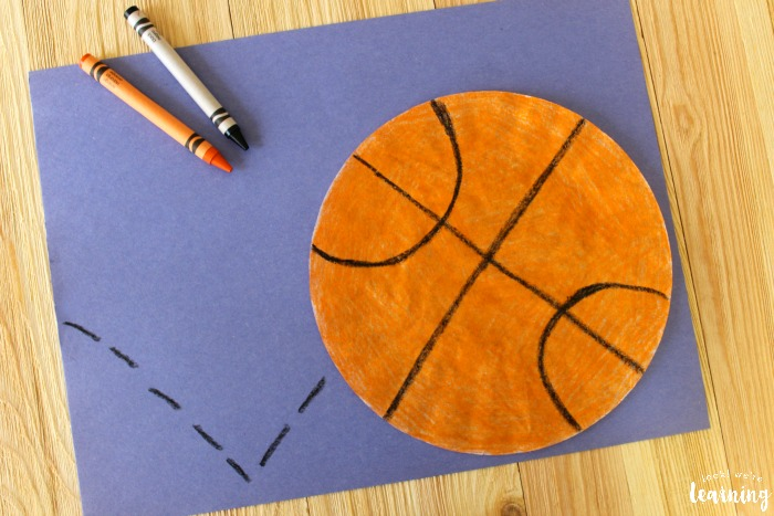 Quick and Simple Coffee Filter Basketball Craft