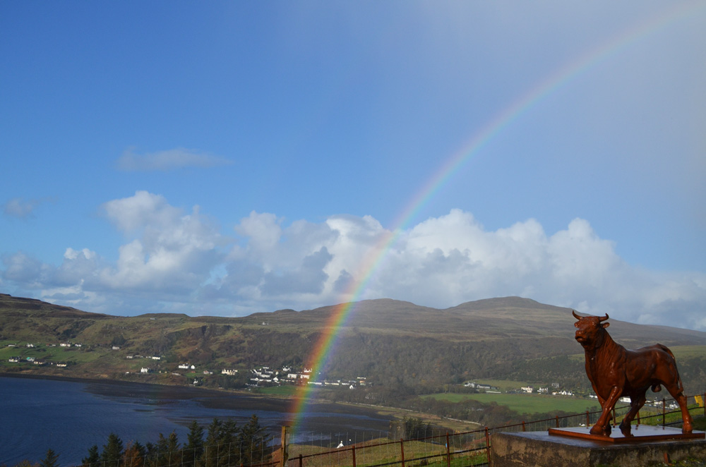 Rainbow over Uig Bay, Isle of Skye