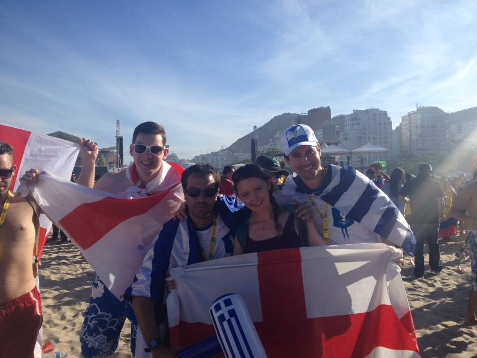 Greek fans at World Cup 2014