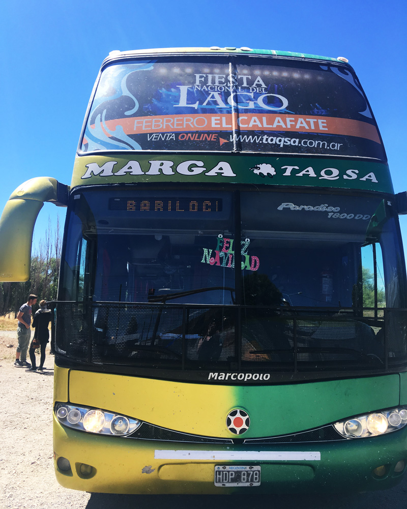 Bus from El Chalten to Bariloche