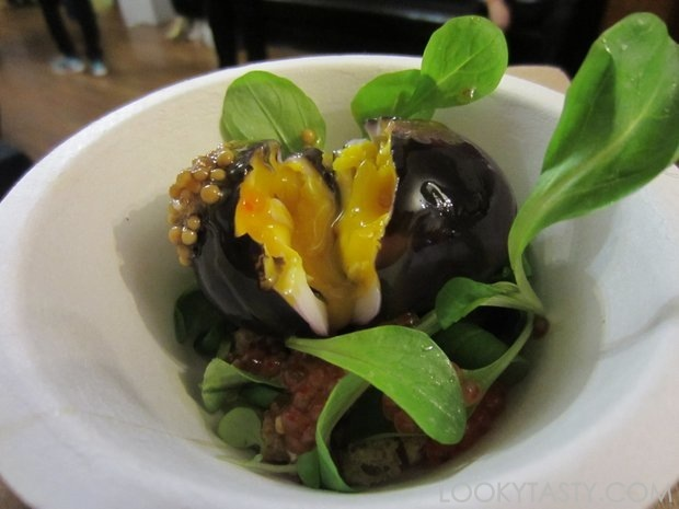 Thirty Acres - Red Wine Marinated Egg