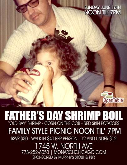 Fathers Day Shrimp Boil at The Monarch