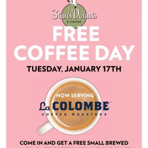 "Stan's Donuts ""Free Coffee Day"" – Jan. 17"
