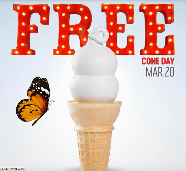 Dairy Queen Free Cone Day arrives on the first day of Spring
