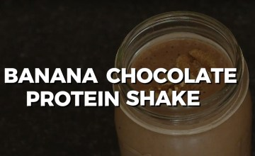 Banana chocolate protein shake