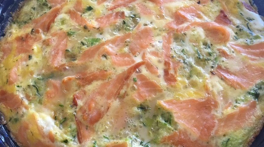 Smoked Salmon Egg Casserole