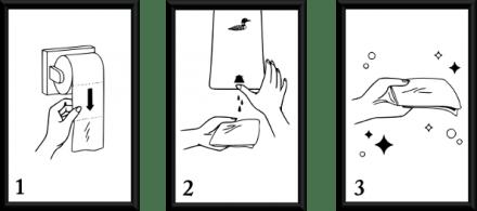 Instructions framed transparent