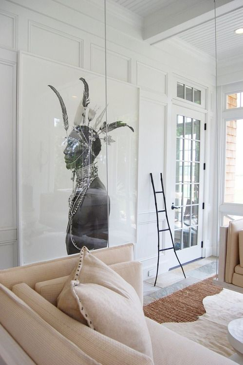 Powerful African wall art and earth shades - home decor