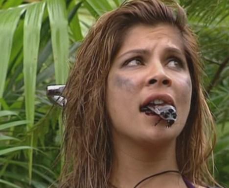 Dschungelcamp 2011: Indira Weis mit Kakerlake im Mund - TV News