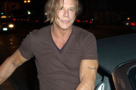 Mickey Rourke on Wilcox Avenue in Hollywood on September 26, 2009