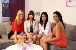 """Wer kann das """"perfekte Promi Dinner"""" für sich entscheiden? V.l.: Sissi, Bernadette, Jinjin, Anja"""