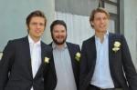 Philip (Jörn Schlönvoigt, li.), Max (Thomas Drechsel) und Dominik (Raul Richter)