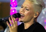 """Pink in Concert on NBC's """"Today Show"""" at Rockefeller Center in New York City"""