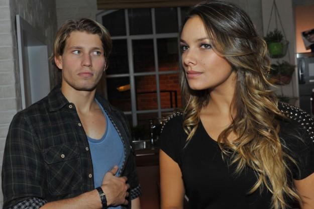 Jasmin (Janina Uhse) und Dominik (Raul Richter) bei GZSZ