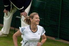 Stefanie Graf hält sich auch ohne Tennis weiterhin fit