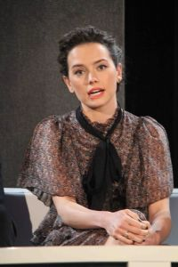 """Daisy Ridley - """"Star Wars: The Force Awakens"""" Los Angeles Press Conference"""