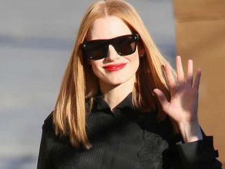 """Jessica Chastain Sighted Arriving at """"Jimmy Kimmel Live!"""" on November 2, 2016"""