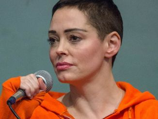 """Rose McGowan's """"Brave"""" Book Signing at Barnes & Noble in New York City on January 31, 2018"""