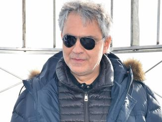 "Andrea Bocelli's ""Cinema"" Album Promotion at the Empire State Building on October 29, 2015"