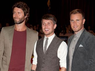 """Howard Donald, Mark Owen and Gary Barlow - """"The Three Musketeers"""" World Premiere"""