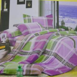 Double Bedsheet  Cotton With Multicolor Stripes
