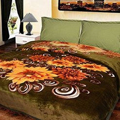Soft Double Bed Mink Blankets Soft & Cozy Multicolor by Avioni