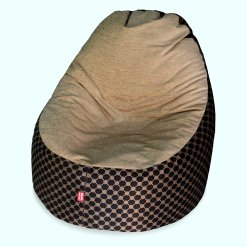 BIGMO Designer Bean Bags Comfy Stylish Chair XXL Without Beans 100% Cotton In Beige Chenille
