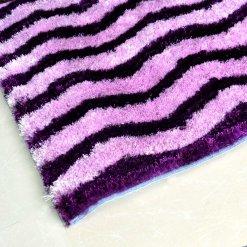 Avioni Premium Purple Zig-Zag Shaggy Carpet