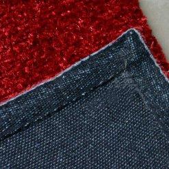 Avioni Handloom Mahroon Plain Solid Premium Bedside Carpet (22X55 Inch)