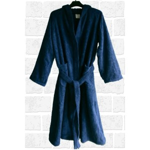 bathrobe blue front