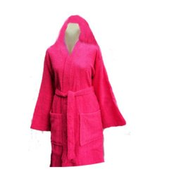 Fine Quality 100% Cotton Unisex Bathrobes With Hood by Avioni