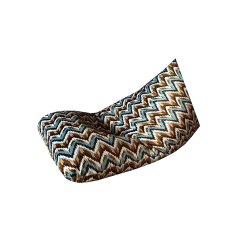 BIGMO Designer Bean Bag Lounger Extra Soft In Multicolor Waves
