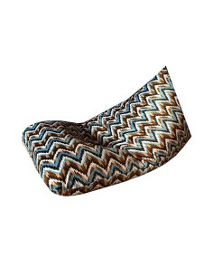BIGMO Designer Bean Bag Lounger Extra Soft Without Beans In Multicolor Waves - XXXL