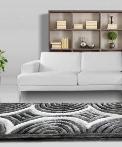 Modern Rug - Shag Pile  - Comptemporary Black 3D - 3 x 5 ft @ Factory Price from Avioni