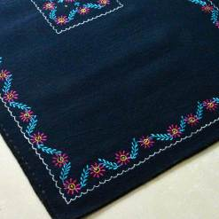 Blue Carpet | Wool Rugs | Avioni| Embroidered Rug |