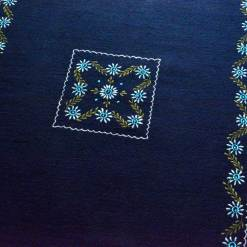 Buy Blue Carpet | Woolen Mat | Embroidered | Avioni