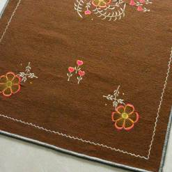 Brown Carpet | Buy Woolen Mat | Embroidered | Avioni