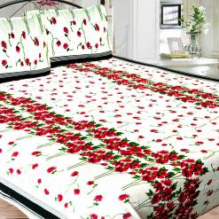 Double bedsheet 100% Cotton 144 Tc in Multi Floral